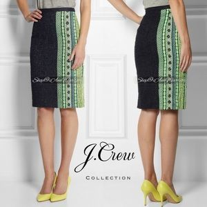 J.Crew Collection NWT neon tweed pencil skirt